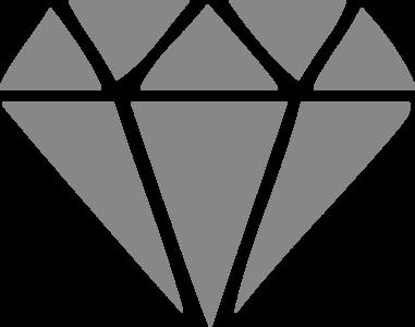 Muursticker diamant | muurenstickers.nl