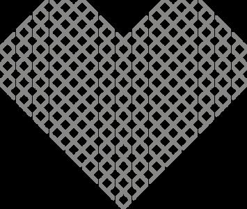 Muursticker hart kruisjes | muurenstickers.nl