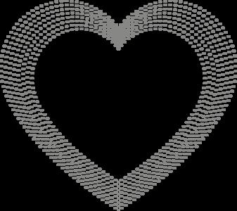 Muursticker hart puntjes | Muur & Stickers