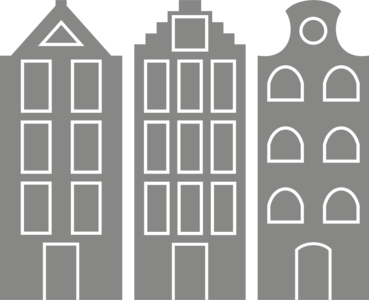 Muursticker grachtenhuisjes | Muur & Stickers