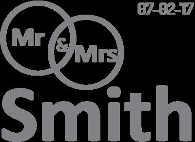 Muursticker mr & mrs Smith | muurenstickers.nl