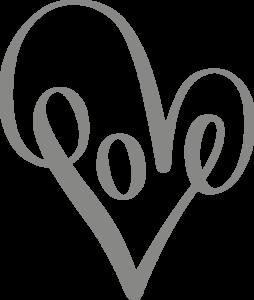 Muursticker love sierlijk | Muur & Stickers