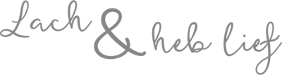 Muursticker lach & heb lief | Muur & Stickers