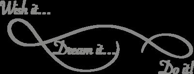 Muursticker wish it, dream it, do it | Muur & Stickers