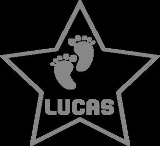 Geboortesticker ster | Muur & Stickers