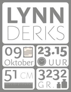 Geboortesticker gegevens small | muurenstickers.nl
