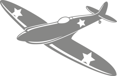 Muursticker legervliegtuig | Muur & Stickers