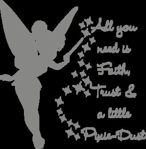 Muursticker all you need is faith, trust & a little pixie-dust | Muur & Stickers