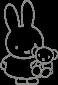 Muursticker Nijntje met beer | Muur & Stickers