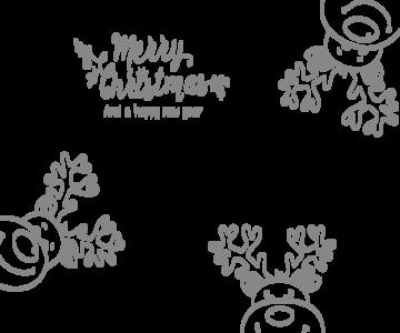 Kerst raamsticker rendier | Muur & Stickers