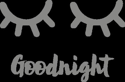 Muursticker 'Goodnight' dichte oogjes | Muur & Stickers